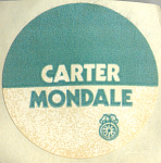 Jimmy Carter, Walter Mondale Presidential Sticker