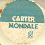 Carter Mondale 1976 Presidential Campaign Sticker