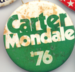 Carter Mondale 1976 Presidential Campaign Button