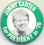 Jimmy Carter For President In 1976 Campaign Button