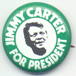 Jimmy Carter For President Campaign Button