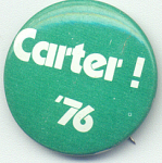 Carter In 1976 Presidential Campaign Button