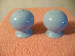 Fiesta By Homer Laughlin Blue Salt And Pepper Shakers