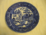 Flow Blue Dinner Plate Marked England And A Stamp