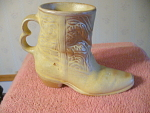 1981 Frankoma Double Finger Handle Cowboy Boot Vase