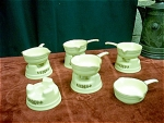 5 Pfaltzgraff Butter Warmer Pans With Stands
