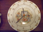 Royal Doulton Bunnykins Teaching Clock Plate