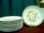8 Mountain Wood Dinner Stoneware Plates