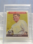 Sport Kings Gum Babe Ruth Baseball Card No. 2
