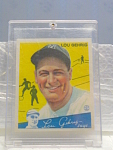 Big League Gum Lou Gehrig Baseball Card No. 37