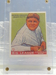 Big League Gum Babe Ruth Baseball Card No. 181