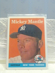 1958 Mickey Mantle Porcelain Baseball Card No. 150