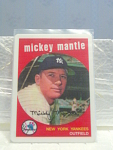 1959 Mickey Mantle Porcelain Baseball Card No. 10