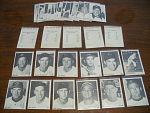 1954 Collection Of 36 Cleveland Indians Baseball Cards