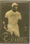 Willie Stargell, Pittsburgh Pirates 22 Kt Gold Foil Car