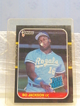 1987 Bo Jackson Rated Rookie Baseball Card