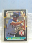 1987 Mike Greenwell, Boston Red Sox Baseball Card