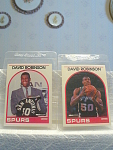 2 1989 David Robinson Rookie Cards By Nba Hoops