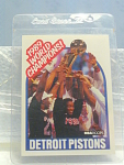 1989 Detroit Pistons World Champions Cards