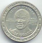 1995 George Foreman 1 Dollar Gaming Token From Mgm