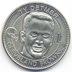 Ty Detmer 1999 Cleveland Browns Collectible Coin