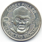Corey Fuller 1999 Cleveland Browns Collectible Coin