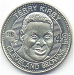 Terry Kirby 1999 Cleveland Browns Collectible Coin