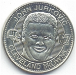 John Jurkovic 1999 Cleveland Browns Collectible Coin