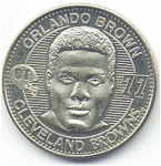 Orlando Brown 1999 Cleveland Browns Collectible Coin