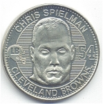Chris Spielman 1999 Cleveland Browns Collectible Coin