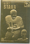Bart Starr, Green Bay Packers 22 Kt Gold Foil Card