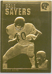 Gale Sayers, Chicago Bears 22 Kt Gold Foil Card