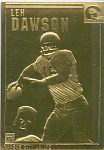 Len Dawson, Kansas City Chiefs 22 Kt Gold Foil Card