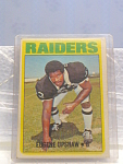 1972 Eugene Upshaw, Oakland Raiders Football Card
