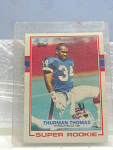 1989 Thurman Thomas Super Rookie Football Card