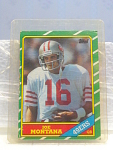 1986 Joe Montana Football Card