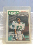 1987 Randall Cunningham Football Card