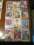 55 Buffalo Bills Football Cards, 1970s, 1980s, 90s