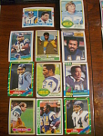 55 San Diego Chargers Football Cards, 1970s, 1980s, 90s