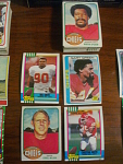 56 Kansas City Chiefs Football Cards, 1970s, 1980s, 90s