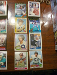 70 Dallas Cowboys Football Cards, 1970s, 1980s, 90s