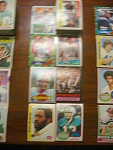 63 Miami Dolphins Football Cards, 1970s, 1980s, 90s