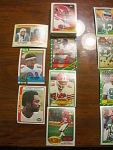 48 Atlanta Falcons Football Cards, 1970s, 1980s, 90s