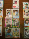 57 Detroit Lions Football Cards, 1970s, 1980s, 90s