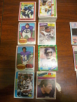 78 Minnesota Vikings Football Cards, 1970s, 1980s, 90s