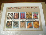 Usps Art Of The American Indian First Day Cover Cancell