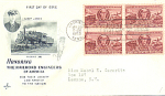 Casey Jones, 4 Stamp, 1950 Fdc, Honoring The Railroad