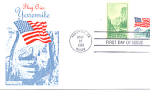 Flag Over Yosemite, 2 Stamp, 1988 Fdc