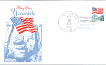 Flag Over Yosemite, 1 Stamp, 1988 Fdc