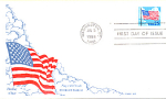 Flag With Clouds, 1 Stamp Washington, Dc 1988 Fdc